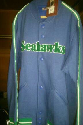 $75obo Seahawks THROWBACK Mitchell and Ness jacket