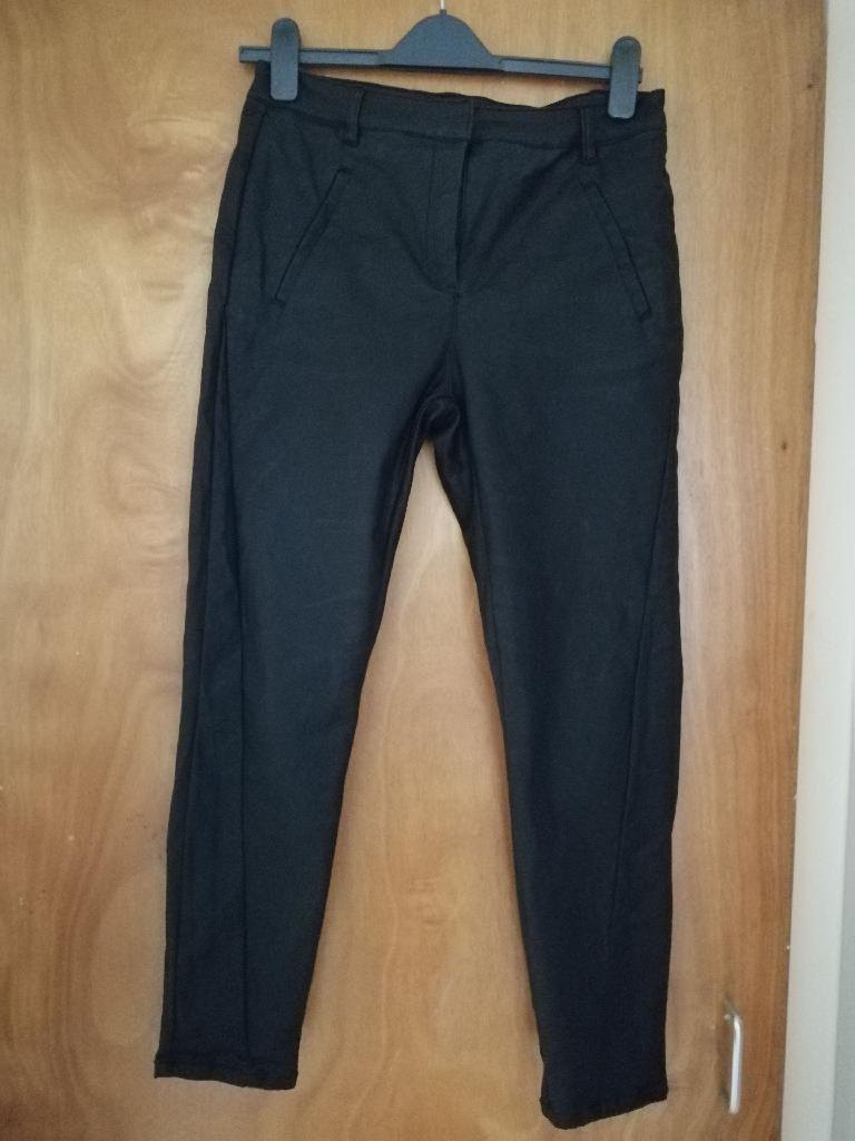 Vera moda leather like trousers size m