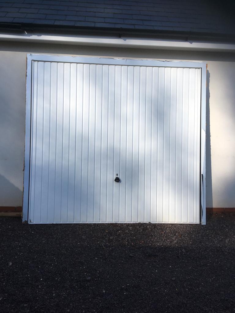 Garador white garage door