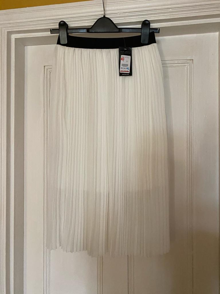 New look long white skirt