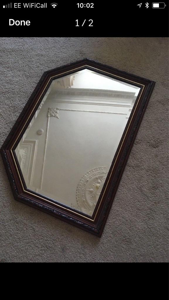 Detailed Brown Mirror