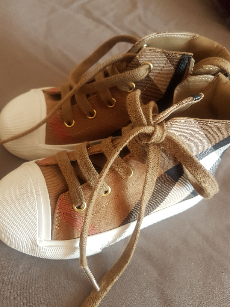 Boys Burberry High Top Trainers