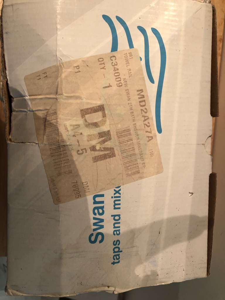 Swan bathroom mixer tap with shower head. Brand new