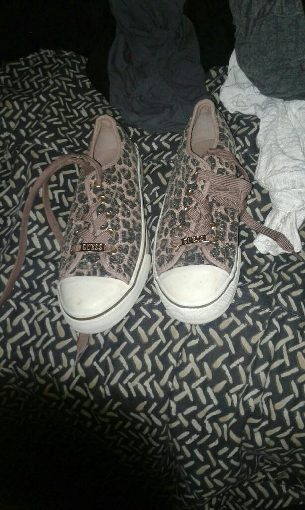 Leopard print guess shoes
