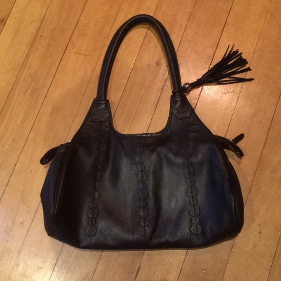 Black leather handbag M&S collection £20.00