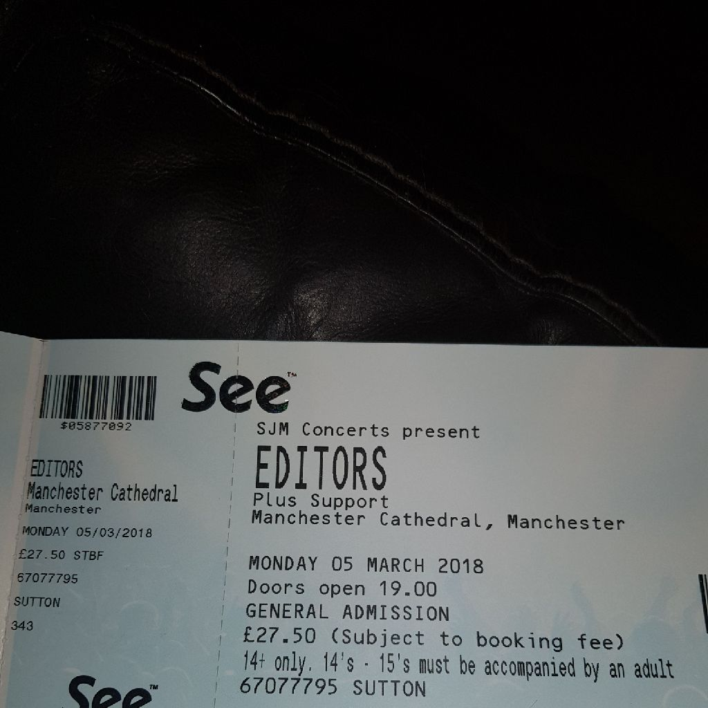 Editors x 2 Tickets