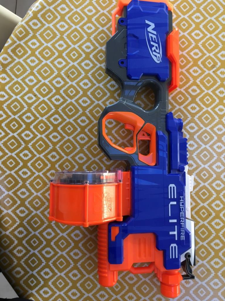 Nerf HYPERFIRE Elite Machine Gun Amazing Condition