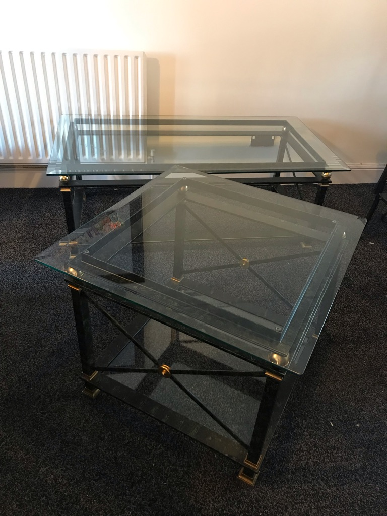 Glass & metal coffee / side tables **REDUCED**