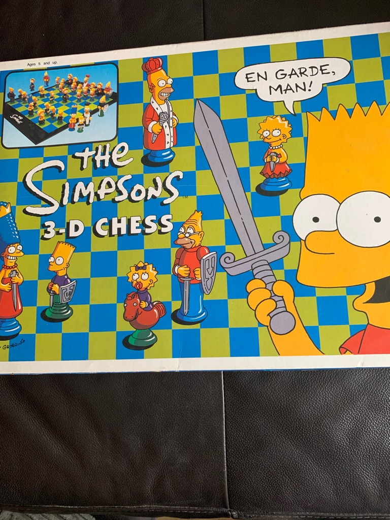 The Simpson's 3-D chess set