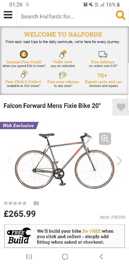 Falcon flexi push bike