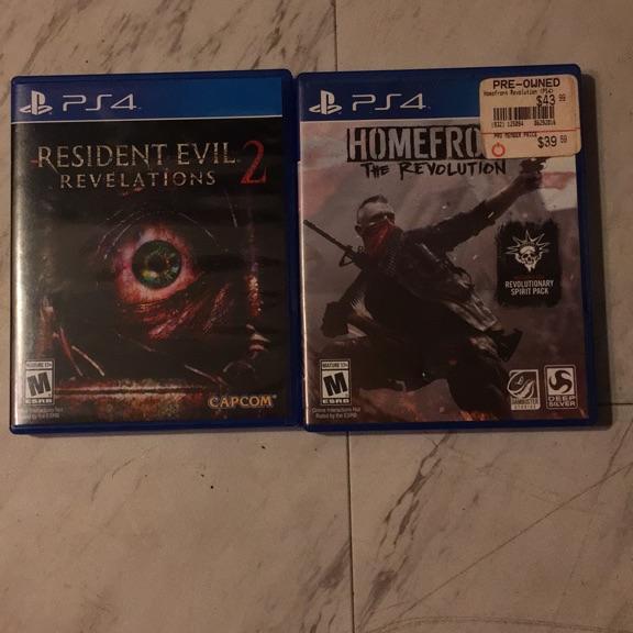 Resident evil 2 & homefront revolutions
