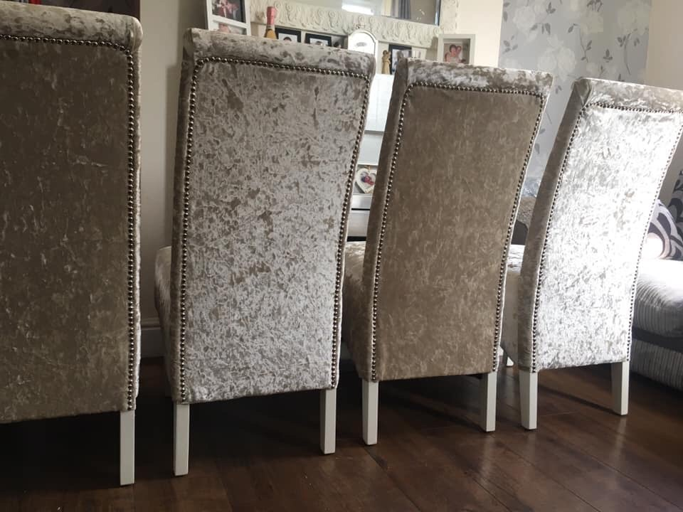6 beautiful strong comfortable dining chairs