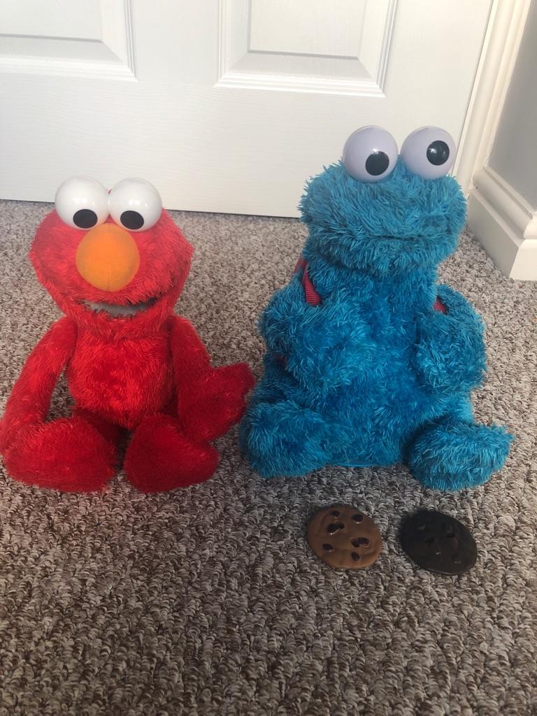 Talking Elmo & Cookie Monster