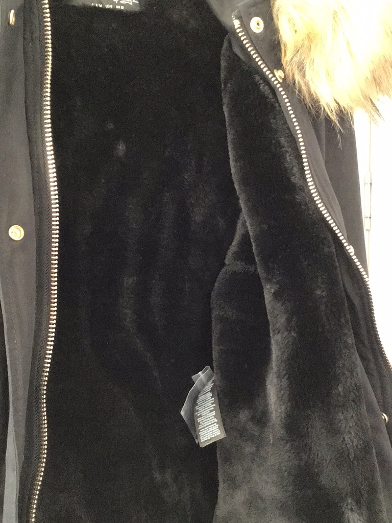 New Miss Selfridge black parka size 10