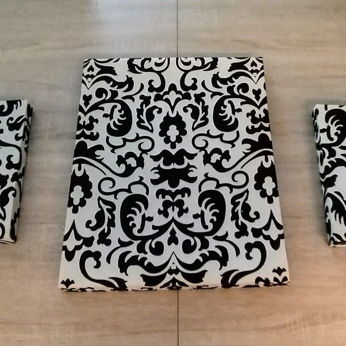 Black and white canvases x3