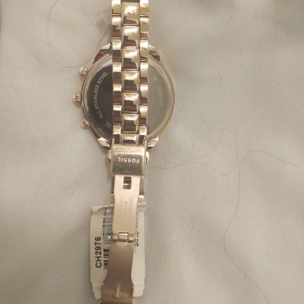 Fossil Woman's Metallic Gold Watch