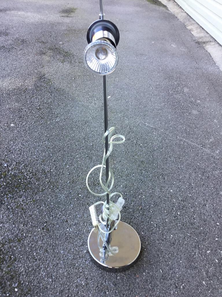 Small silver desk light
