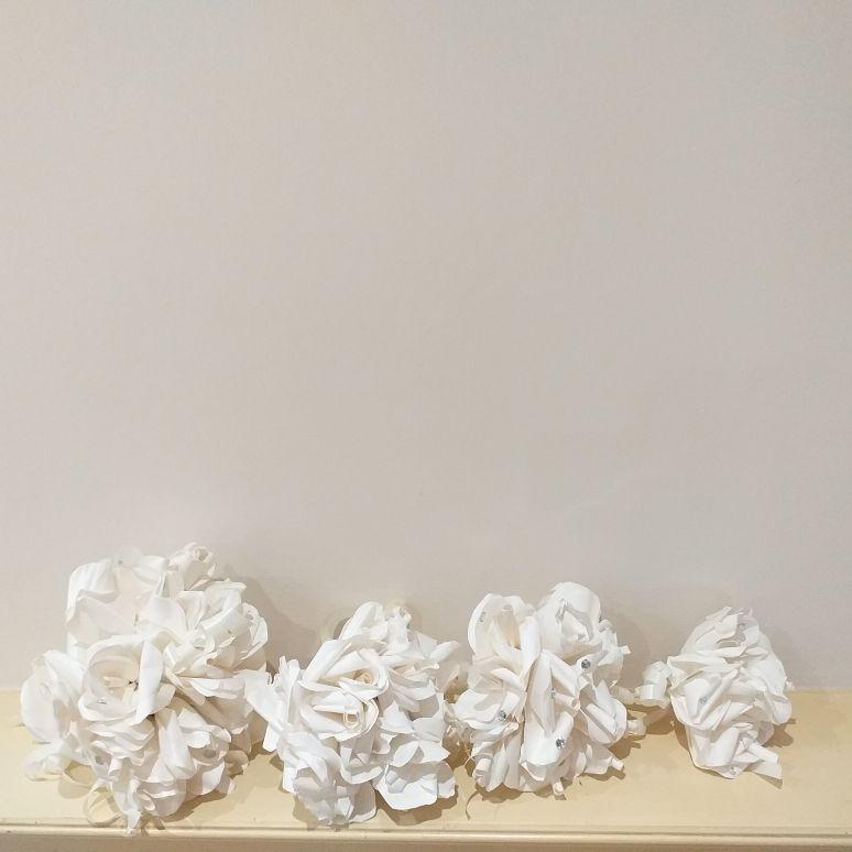 Paper rose bouquets