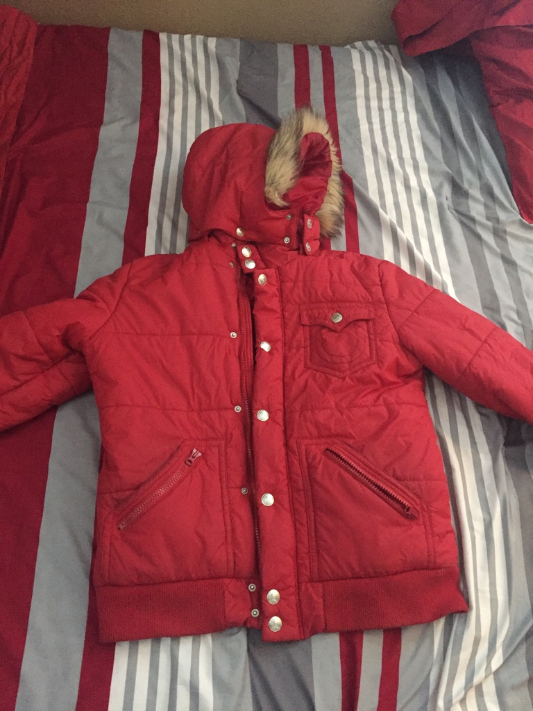 Red true religion jacket