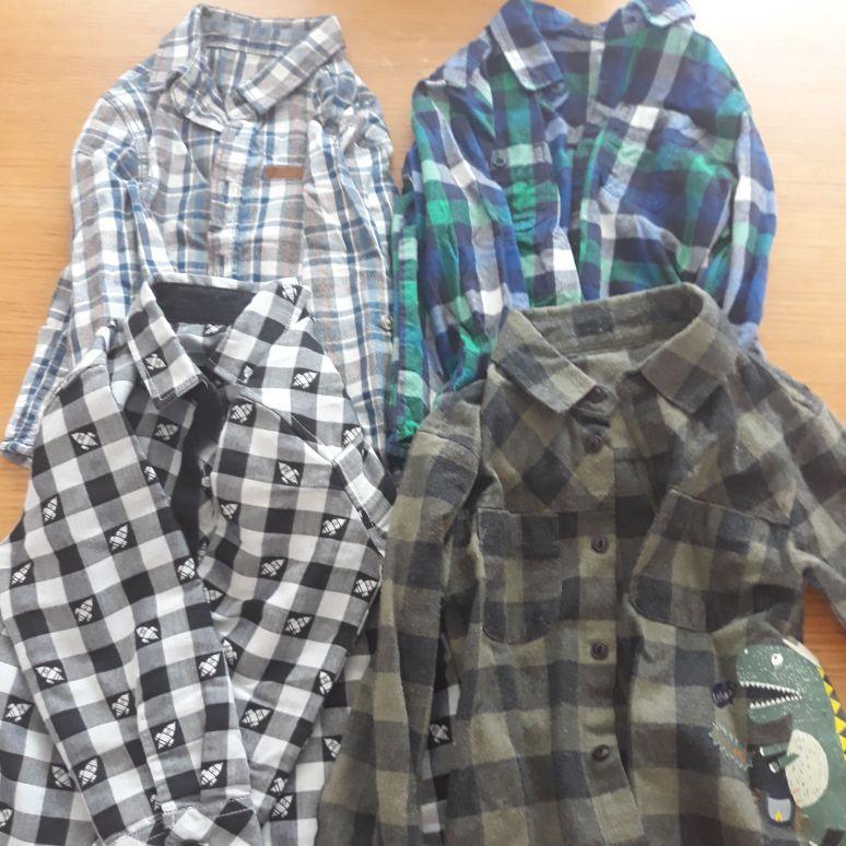Boys casual long sleeve shirts (2-3yrs)