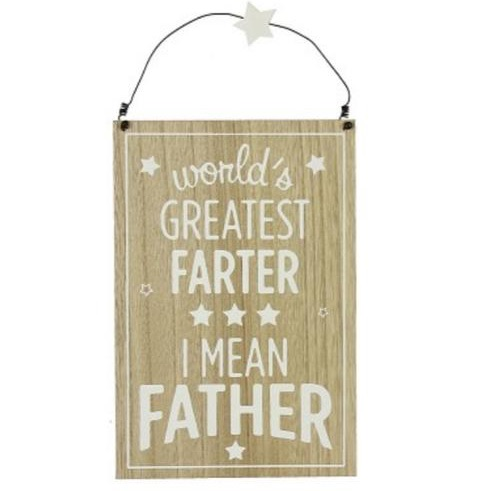 Hanging wall plaque 'world's greatest farter'