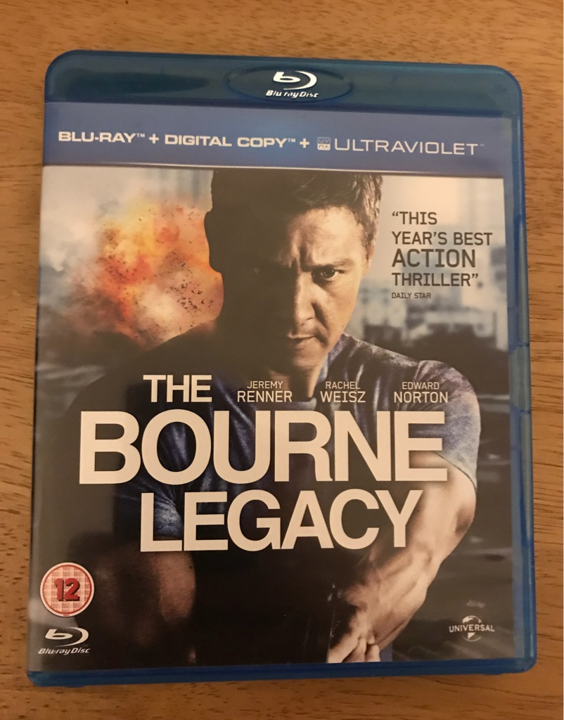 The Bourne Legacy blu ray