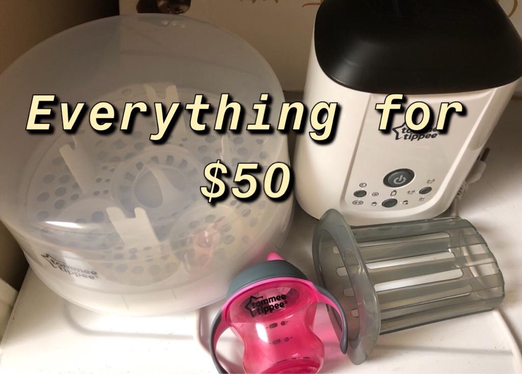 Bottle sterilizer and milk warmer