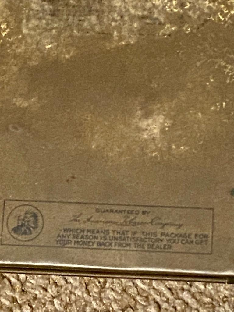 Antique lucky strike flat fifties cigarette case