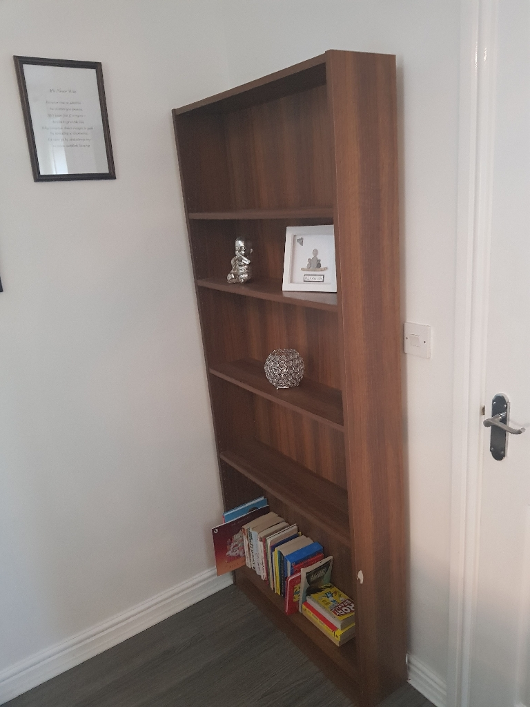 Walnut book shelf