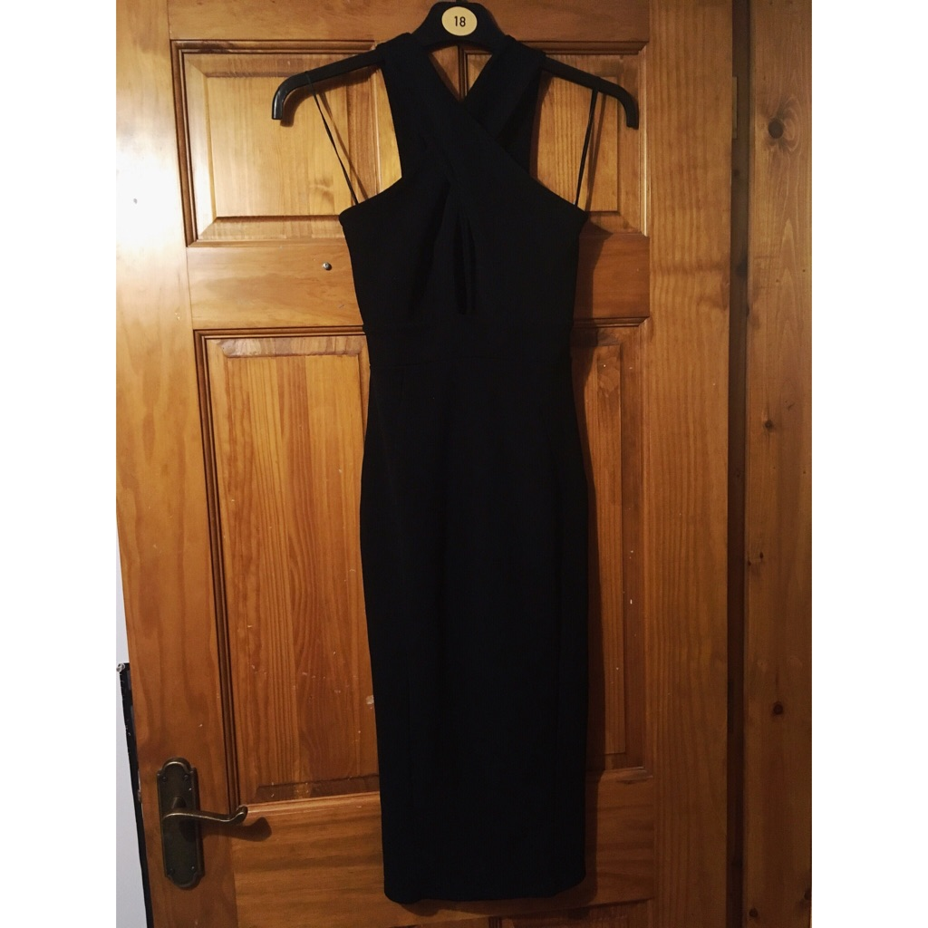 Black Dress with opening at the chest