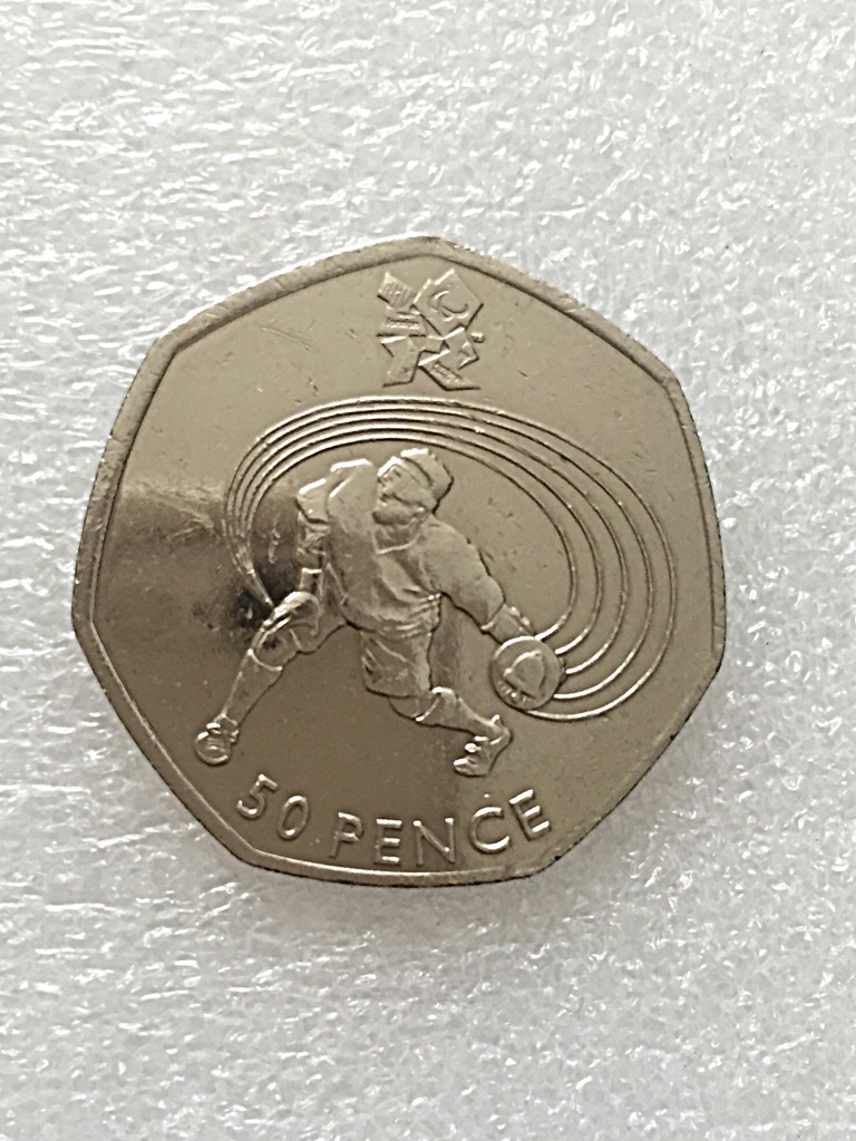 50p coin goalball London Olympic Games 2011.