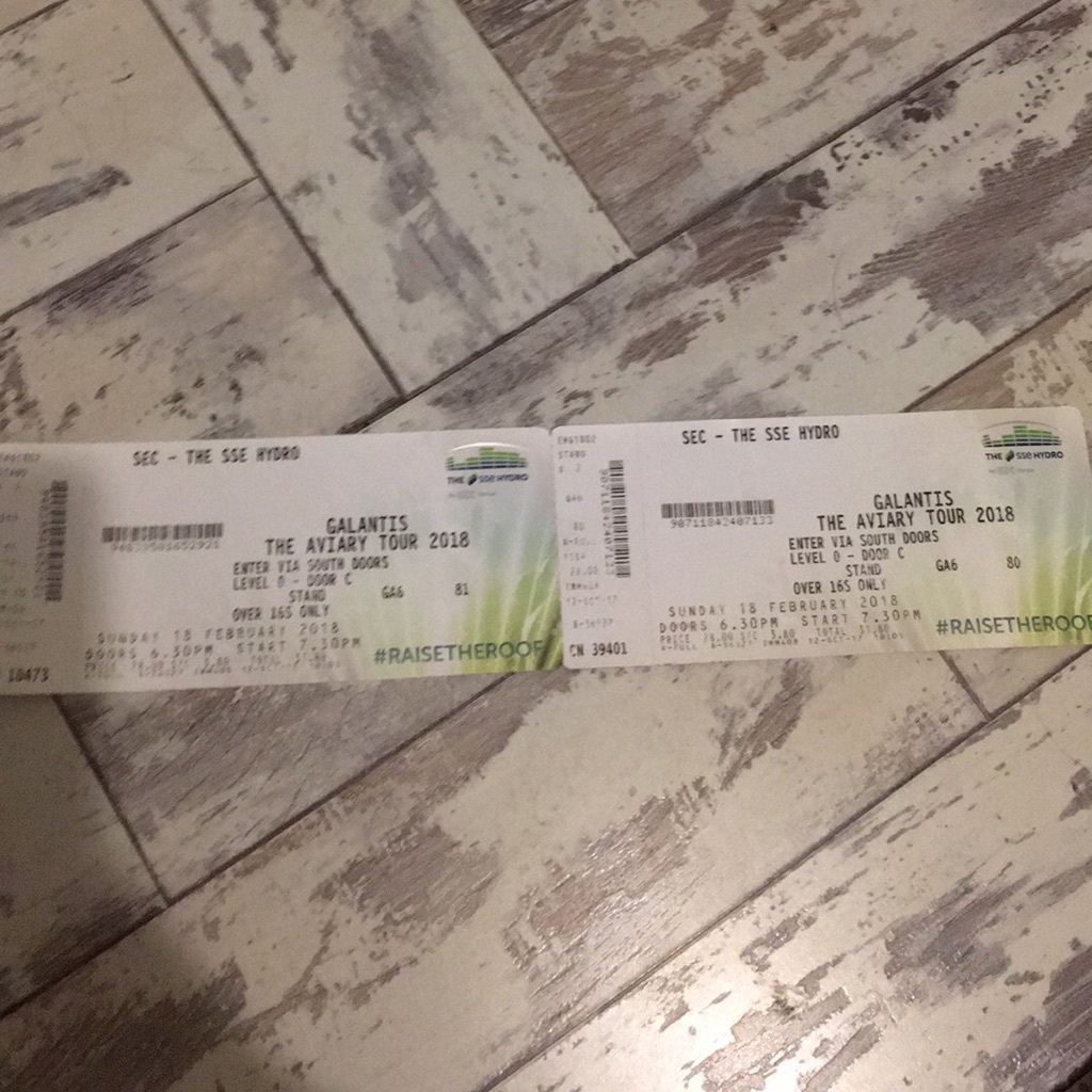 3x galantis tickets 18th February. need gone asap