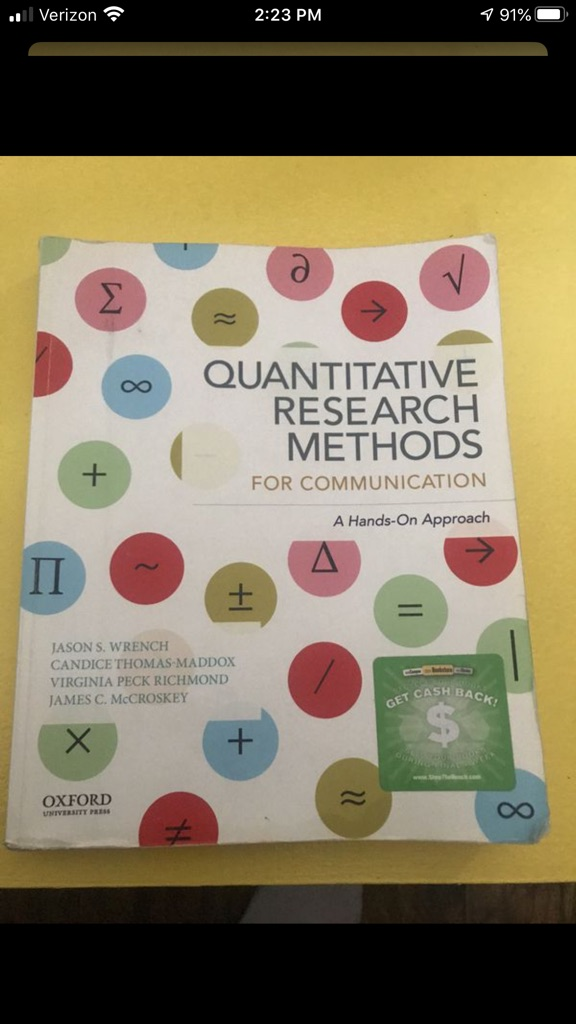 Csulb College textbook comm 307 (Quantitative Research Methods For Communication)