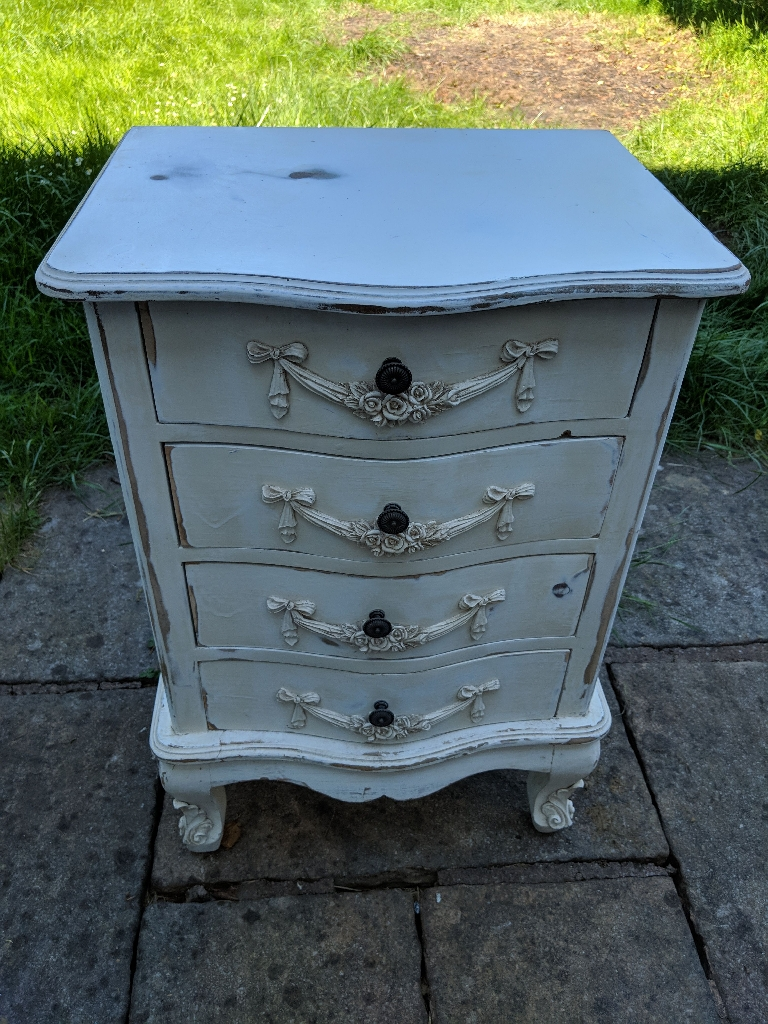 Dunelm shabby chic bedside table