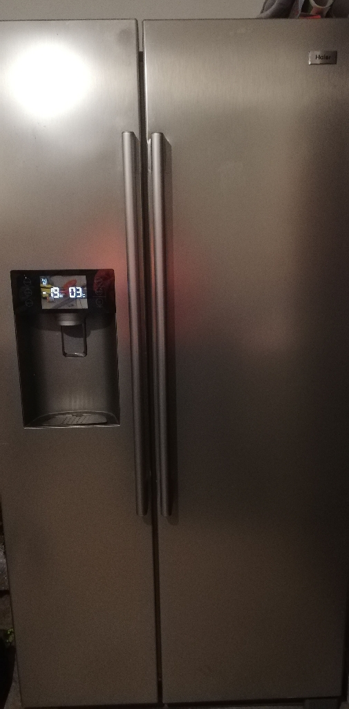 Haier American style fridge freezer with ice maker