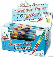 Swopper point crayon pens