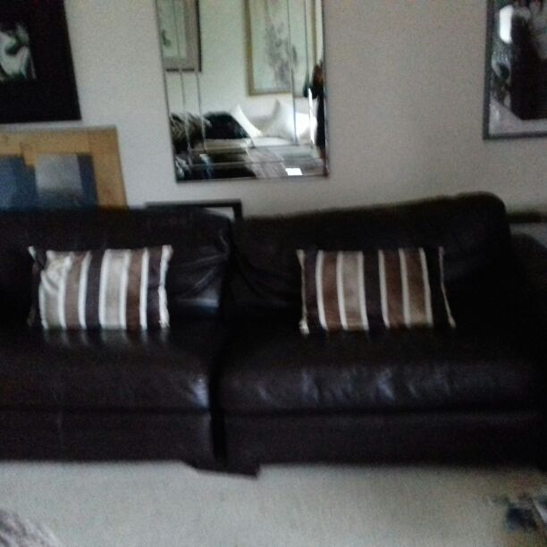 Chocolate Leather 3-4 seater sofa