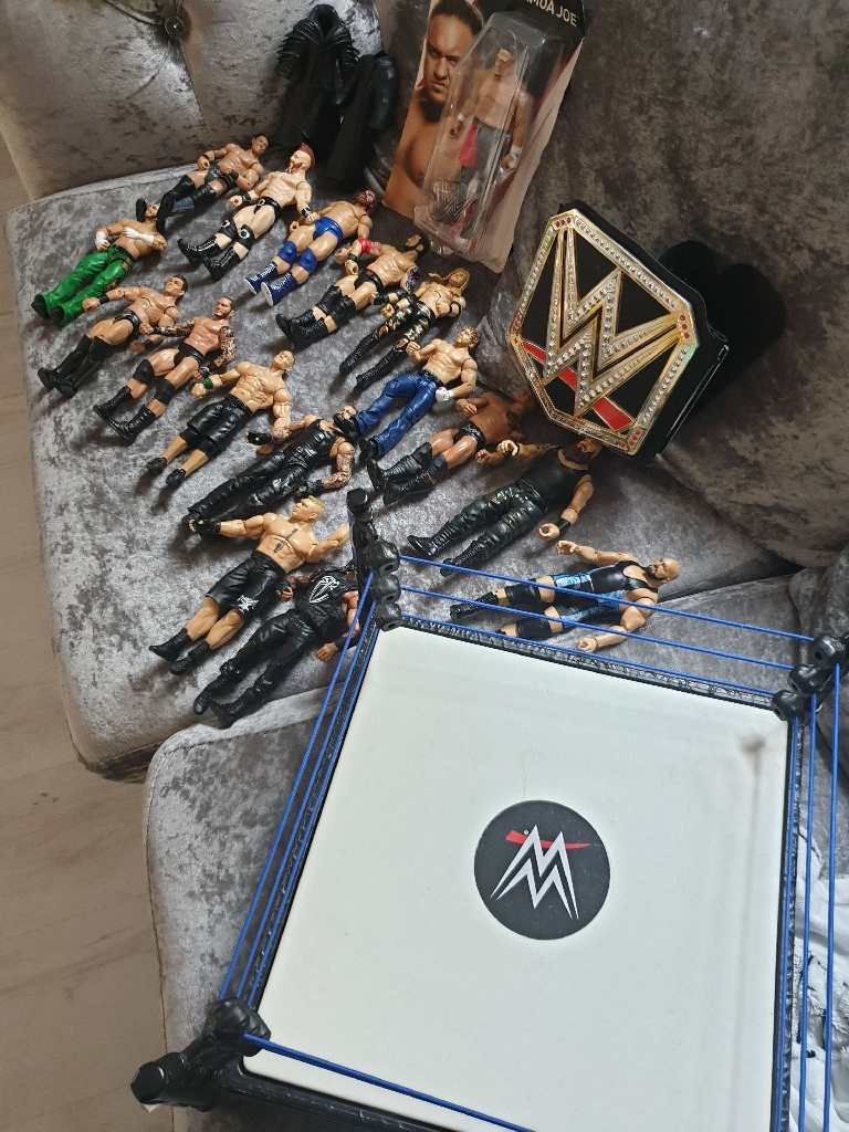 Wwe figures ring and belt