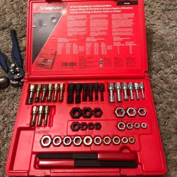 Snap on tools rethreading set