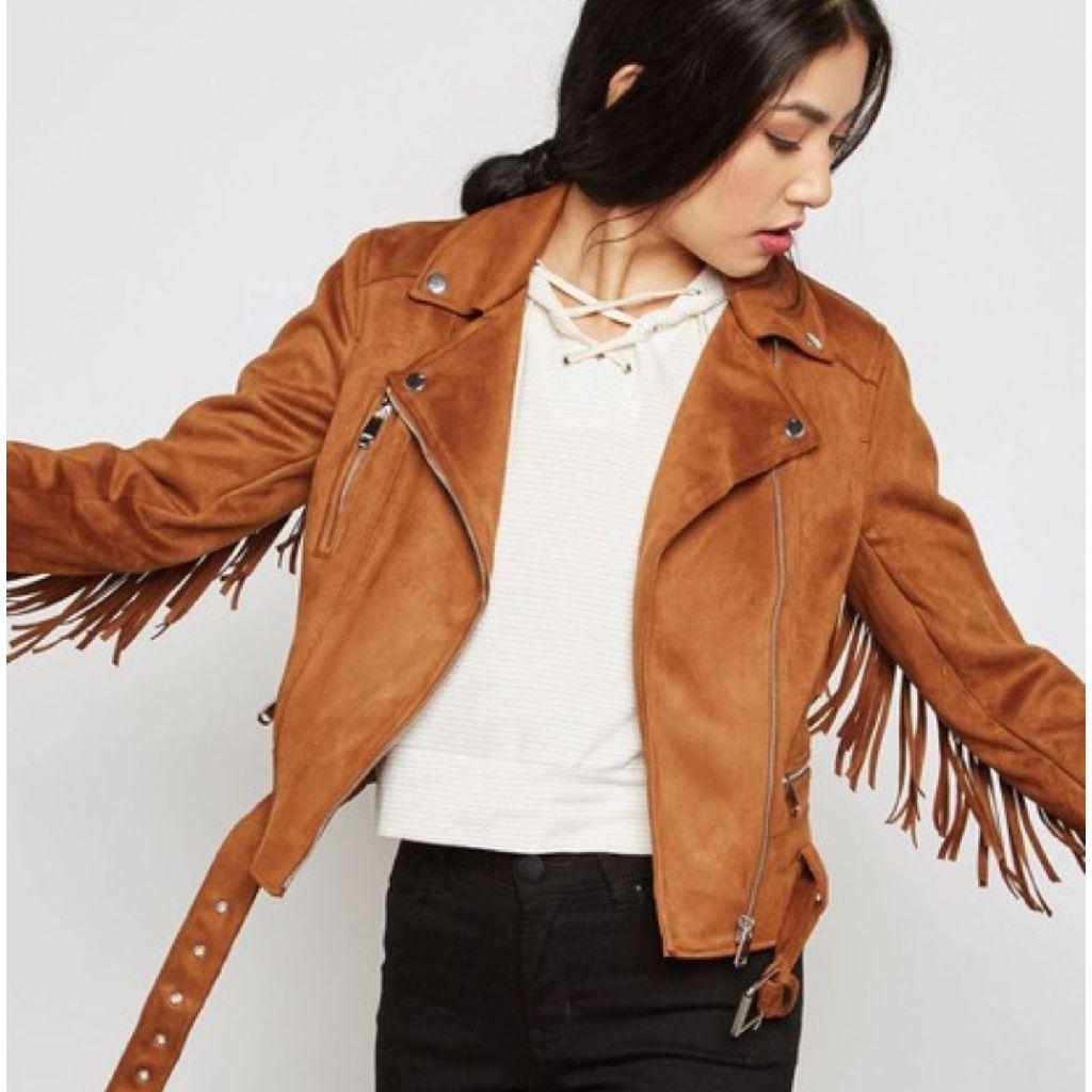 Fringed new look jacket