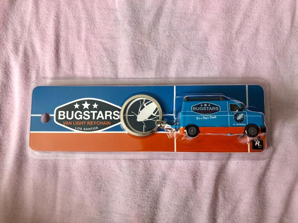 Rockstar GTA 5 - Bugstars Van Light Keychain (BRAND NEW)