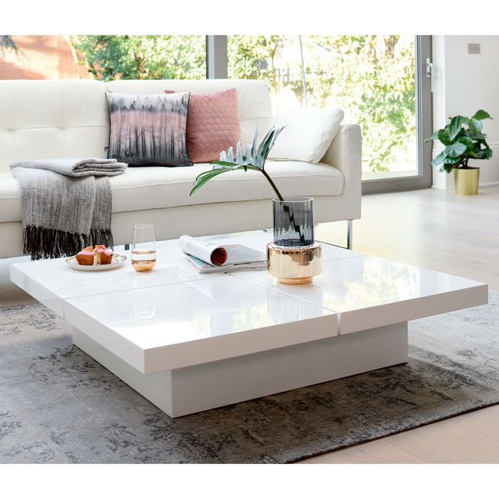Dwell Coffee Table.Dwell Four Block Storage Coffee Table