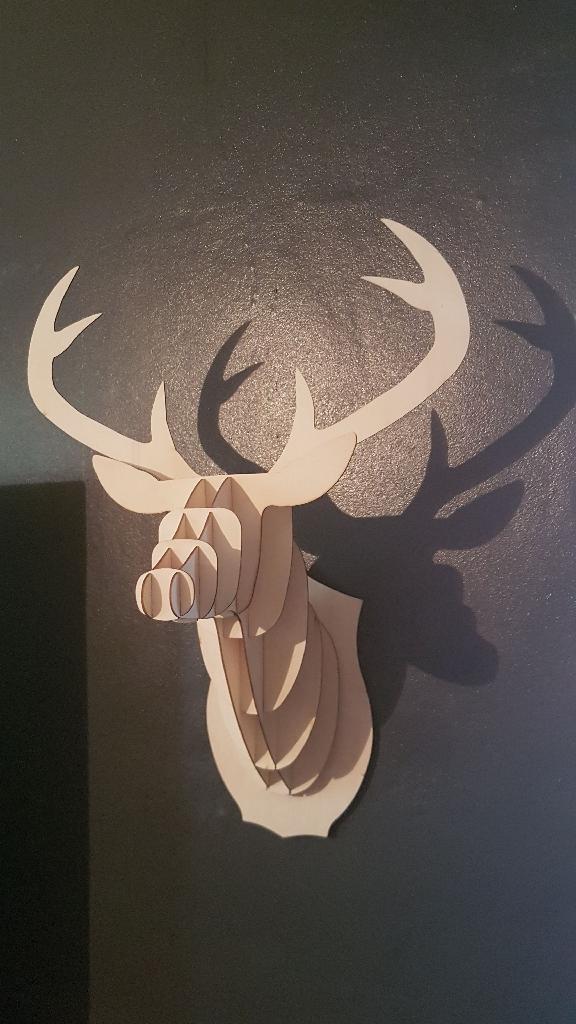 Wooden Craft Deer heads