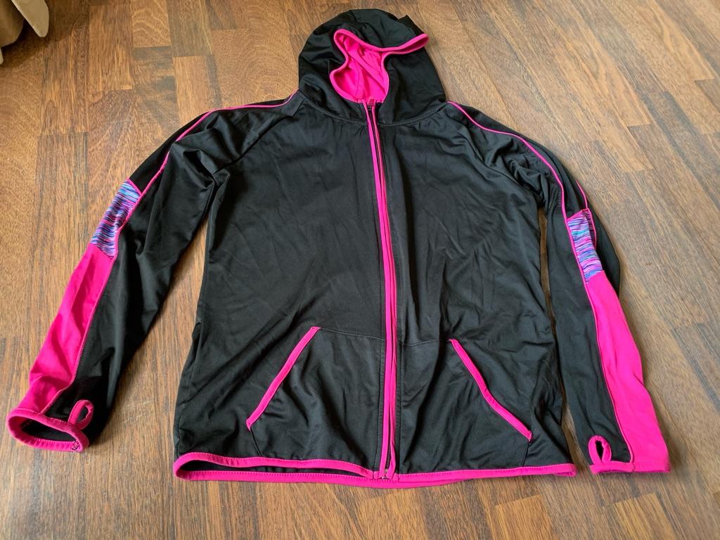 Girls athletic hoodie (13-14) and leggings (11-12)