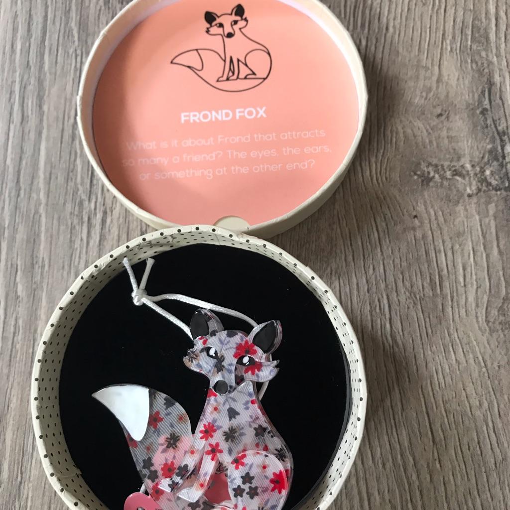 Erstwilder Fox brooch BNIBWT £15.00