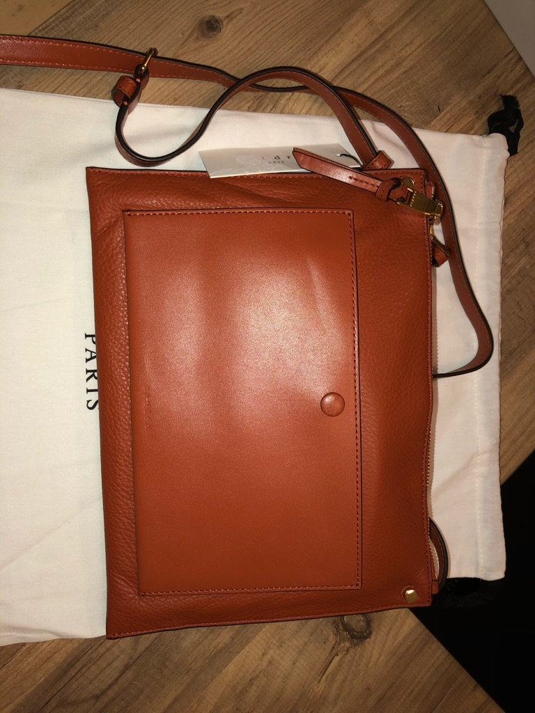 Sandro messenger bag in tan
