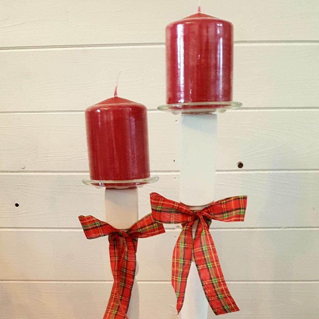 Christmas Candles & Holder