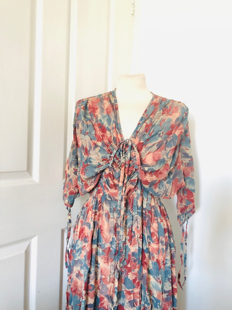 Women's multi coloured vintage dress one size