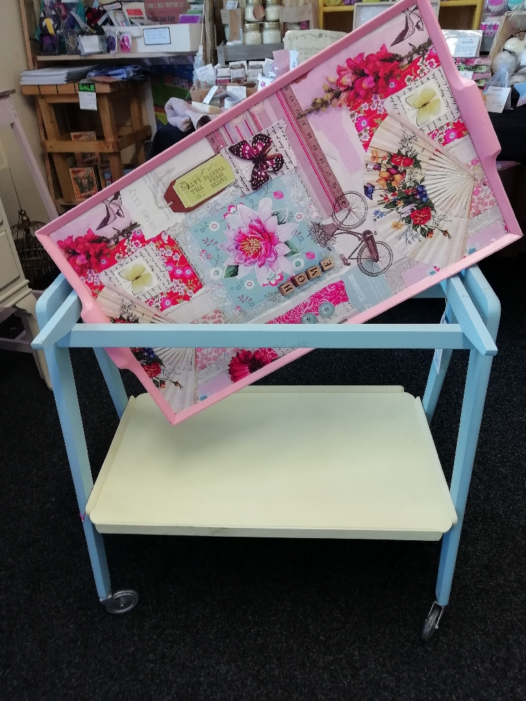 Funky Kitsch Vintage Upcycled tea trolley