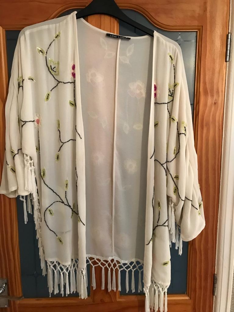 Sequinned kimono